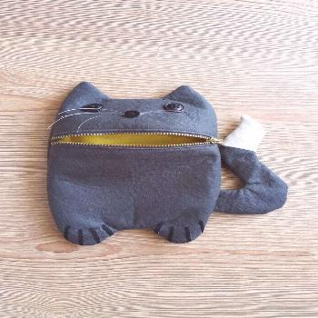 Cute cat Zip Purse Makeup Bag Coin Purse Small Accessory Pouch Gift For herGift For Mom Gift For Ni
